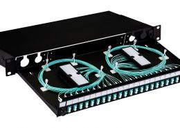 FastFibre 1U 19″ Pre-Loaded Sliding Patch Panel